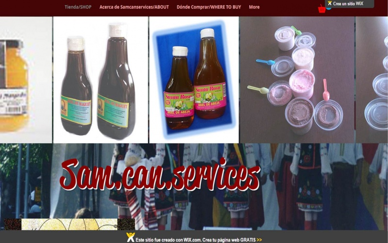 Tienda On-Line de Sam.can en Wixsite